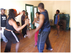 Developing the choreography at Botshabelo